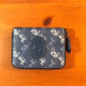 Card Case With Horse And Carriage Print Wallet
